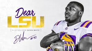 In 'thank You' Letter To LSU, Devin White Explains NFL Decision ...
