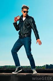 Retro Fashion Includes Tight Fitting Jeans And Leather Motorcycle Jackets