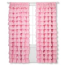 Target Eclipse Pink Curtains by Ruffle Curtain Panel 55x84