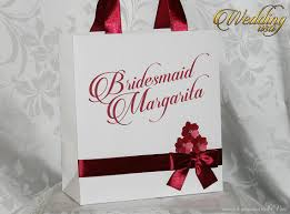 Personalized Bridesmaids Gifts Paper Bags Whith