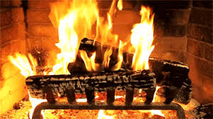 Yule Log Fireplace GIF Find & on GIPHY