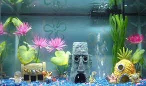 Spongebob Fish Tank Accessories by Spongebob Aquarium Ornaments Turn Your Fish Tank Into