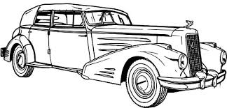 Antique Lowrider Cars Coloring Pages