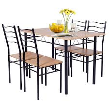 Costway 5 Piece Dining Table Set With 4 Chairs Wood Metal Kitchen Breakfast  Furniture Kings Brand Fniture 3 Piece Bronze Metal Square Ding Kitchen Dinette Set Table 2 Chairs Elixir 80in Rectangular With Base By Hooker At Dunk Bright Costway 5 4 Wood Breakfast Chic Gray Room With Rustic And Vintage Louis Pair Of Silver Velvet Mirrored Legs Vida Living Tempo Glass C1860p Industrial Round Lifestyle Sam Levitz Fixer Upper A Contemporary Update For A Family Sized House Hot Item Cheap Leg Chair Vecelo Sets Pcs Embossed White Montello 3piece Old Steel