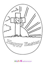 Christian Coloring Pages Printable Drawing Easter For Toddlers Egg Adults Preschool Religious Full Size