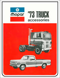 100 Truck And Van Accessories 1973 Dodge And Accesories Parts Book Reprint