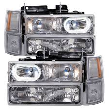 1994-1998 Chevy Truck 8-Piece Chrome Headlights Set W/Halos And ... 52017 F150 Anzo Led Switchback Outline Projector Headlights Mack Rd Ch Sfa Some Sba Freightliner Mt Rv Utilimaster Penske Makes Trucklite Standard For United Pacific Industries Commercial Truck Division Round Sealed Low Beam Headlamps Pair Set Chevy Pickup Land Cruiser Fj40 Fj55 Minitruck Of 2 Xenon Headlights American Truck Simulator Smoked Black 1116 Ford Super Duty Halo Gorecon Pair Cree H6054 7x6 Toyota 4piece Signal Marker Lamps Replacement Gmc Next Generation Scania With Shing Editorial Purple Volvo Fh Semi Trailer Stock Image