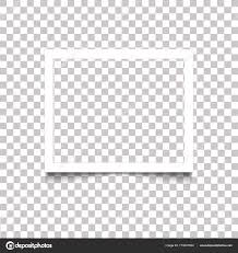 Realistic Blank White Photo Frame With Shadow On Transparent Background Vector Illustration Retro