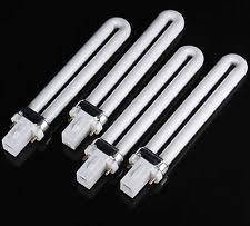 4 pcs 9w uv light replacement bulb nail dryer l 9 watt