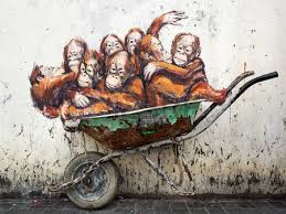 Famous Street Mural Artists by Famous Street Art Mural In Kuching Sarawak Malaysia Stock Photo