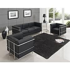 le corbusier canape canapé le corbusier 3 1 1 l 200 l 80 h70 noir achat salon