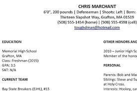 Sports Resume Examples Photo Internship