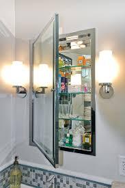 dazzling recessed medicine cabinet in bathroom contemporary with