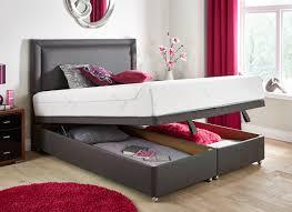 Super King Size Ottoman Bed by Tempur Sensation Deluxe 27 Luxury Base Ottoman Divan Bed Dark