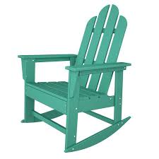 polywood long island recycled plastic adirondack rocking chair