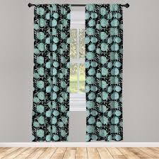 gardine fensterbehandlungen 2 panel set für wohnzimmer schlafzimmer dekor abakuhaus blumen vintage style budding roses kaufen otto