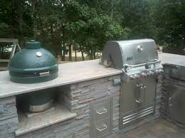 Double Side Deck Outdoor Kitchen Ideas Green Egg Custom S Stunning Home Design