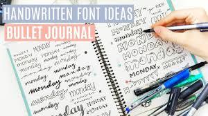 40 HAND LETTERING IDEAS Bullet Journal Fonts