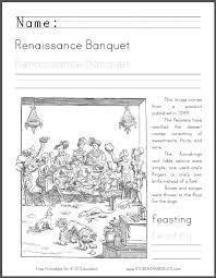 Renaissance Banquet Coloring Page