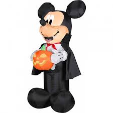 Halloween Airblown Inflatables by 4 U0027 Airblown Inflatables Disney Vampire Mickey Mouse With Pumpkin