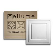 Cheap 2x2 Drop Ceiling Tiles by Amazon Com 10 Pc Ceilume Stratford Ultra Thin Feather Light 2x2