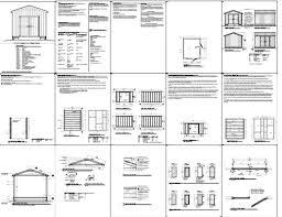 free 10 x 12 shed plans how to build diy blueprints pdf download