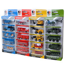 100 Model Fire Truck Kits 5Pcs Sliding Alloy Cars Vehicles Toys Set For Children Playing