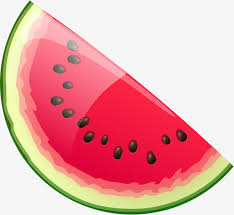 Hand painted red watermelon Hand Watermelon Seeds Gules Free PNG Image