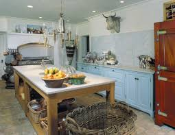 Brilliant Kitchen Chic And Inviting French Country Interiors On In Blue Decor