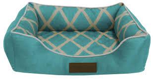 Bolster Dog Bed by Pet Beds Dog Cat Soft Microfiber Orthopedic Nesting Fleece Cushion