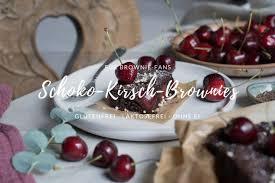 schoko kirsch brownies www glutenfreiumdiewelt de
