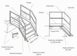 un palier d escalier escalier fixe fabricant d escalier metallique en inox acier