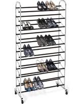 Winter Shopping Special Mainstays 10 Tier Rolling Shoe Rack