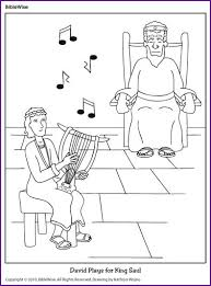 David Plays For King Saul Coloring Page