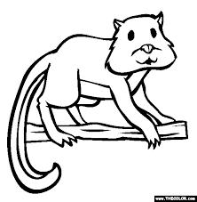 Hamster Lemur Coloring Page