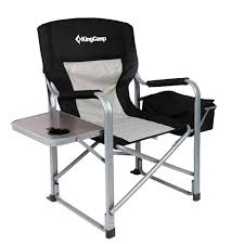 KingCamp Heavy Duty Steel Camping Folding Director Chair With Cooler ... Directors Chairs With Folding Side Table Youtube Mings Mark Stylish Camping Brown Full Back Chair Costway Compact Alinum Cup Deluxe Tall Director W And Holder Side Table Cooler Old Man Emu Adventure 4x4 With Black 156743 Rv Outdoor Meerkat Bushtec Heavy Duty Marquee Alinium Home Portable Pnic Set Double Chairumbrellatable Blue Shop Outsunny Steel Camp