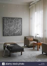 gepolsterte sessel und liege in der modernen wohnzimmer