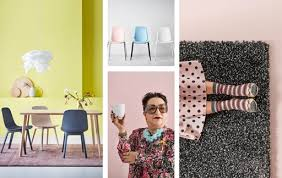 A Collage Of Dining Room Chairs Woman Holding Cup And