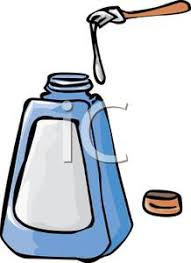 Glue Bottle Black And White Clipart