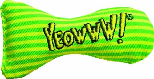 Yeowww Stinkies Catnip Toy - Green Stripes