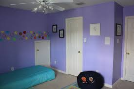 interior mesmerizing purple bedroom wall painting feature light