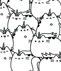 Pusheen Coloring Pages To Print Cat Printable Of Also