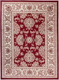carpeto orientteppich teppich rot 250 x 350 cm ornamente klassisch muster wohnzimmer schlafzimmer esszimmer