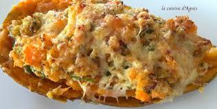 comment se cuisine la patate douce patates douces farcies au poulet la cuisine d agnèsla cuisine d