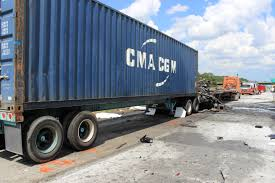 Intermodal Container Truck Crash Does Not Create