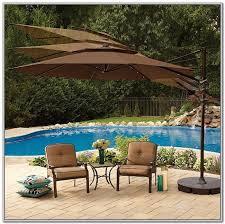 Solar Lighted Rectangular Patio Umbrella by Solar Lighted Rectangular Patio Umbrella Patios Home Furniture