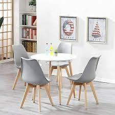 esstisch mit 4 stühlen klein runder tisch und stuhl mit
