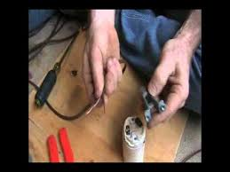 Lamp Wiring Kit For Table Lamp by How To Re Wire An Old Floor Lamp Youtube