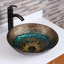 waschbecken im badezimmer designs glas wc schüsse