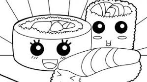 Kawaii Sushi Coloring Pages Gallery